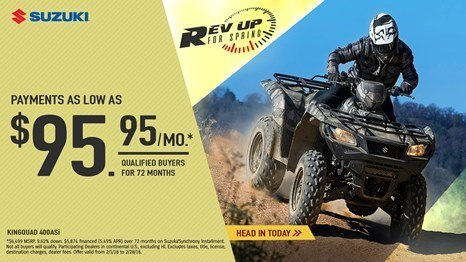 Suzuki - Rev Up for Spring for Utility Sport and Sport ATV